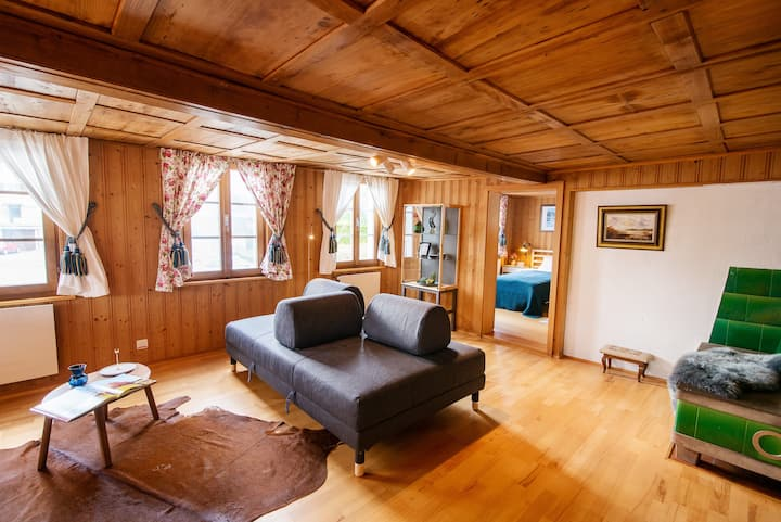 Unique, old traditional Swiss cottage apartment