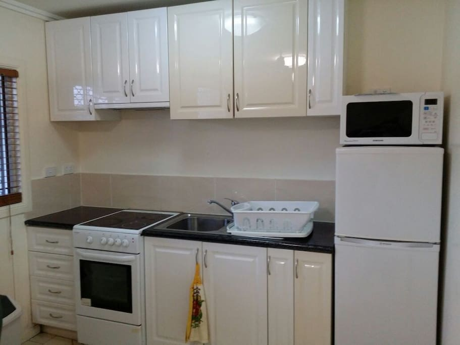 Full kitchen with small appliances