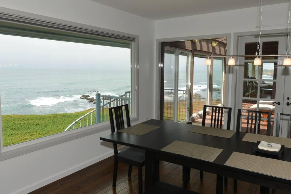 Dining Room with adjacent Sunroom