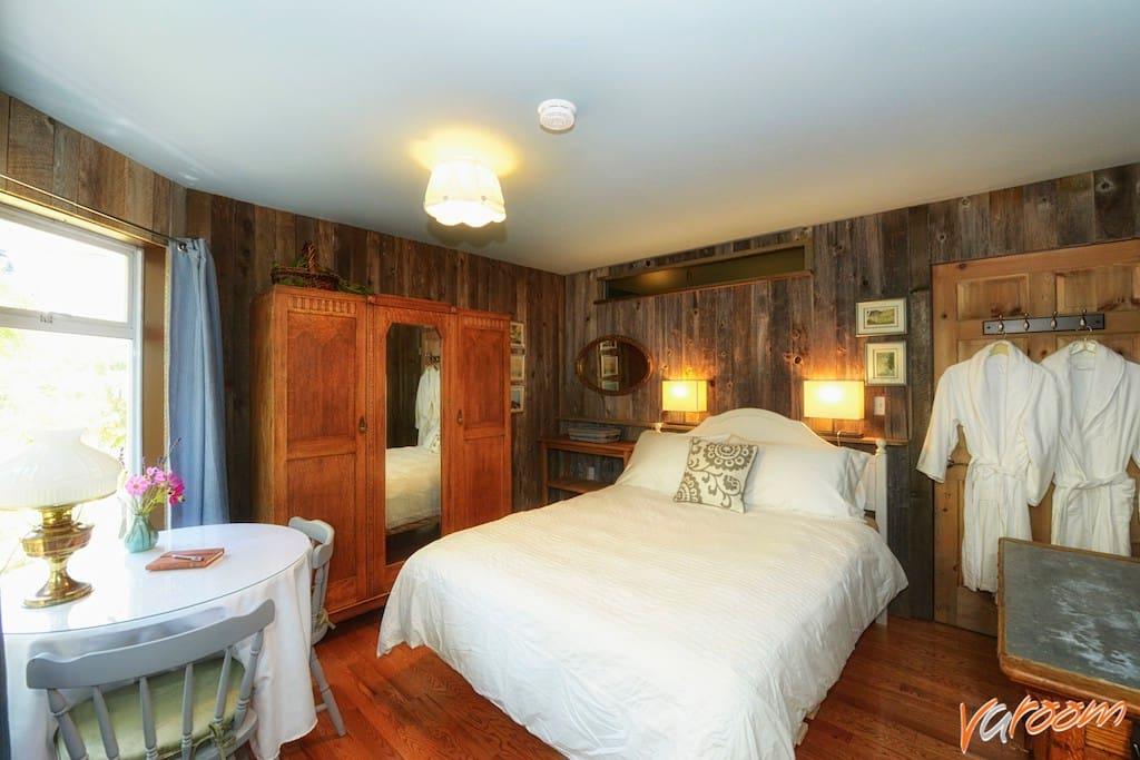 Bedroom with door to your hallway closed.