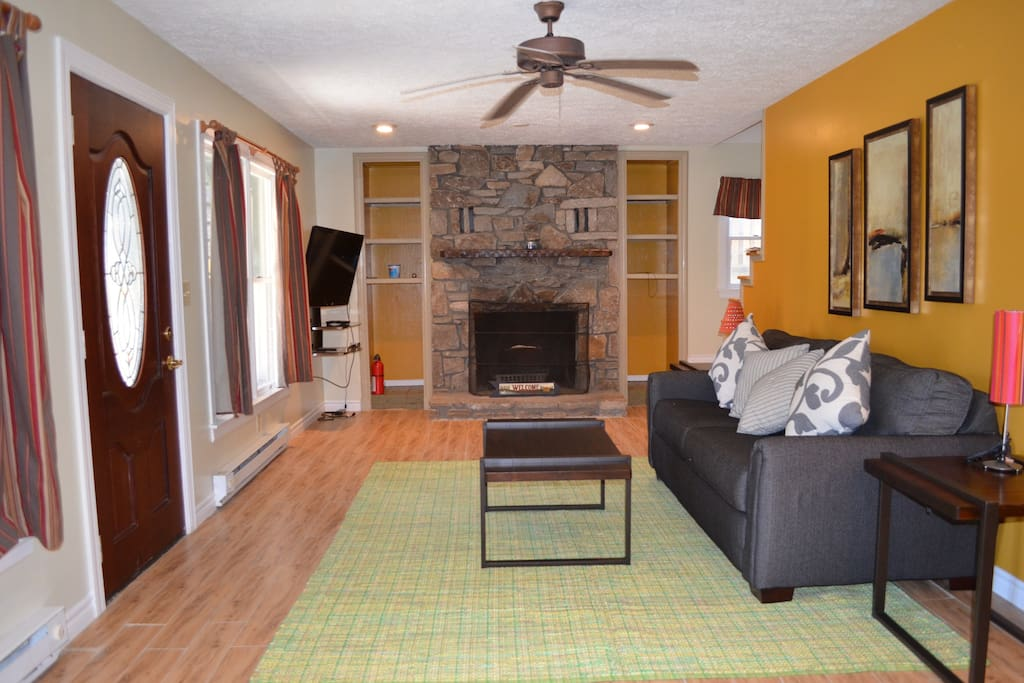 Living area lower level with queen sleeper sofa