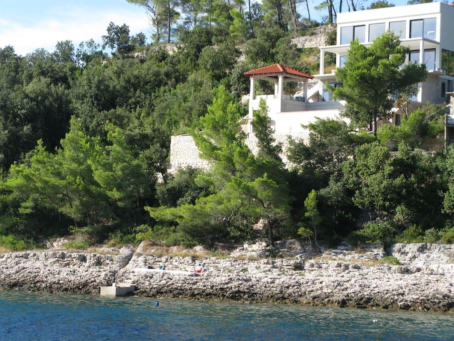 Villa on the sea