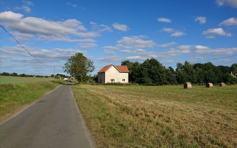 Situated on a quiet lane in a hamlet