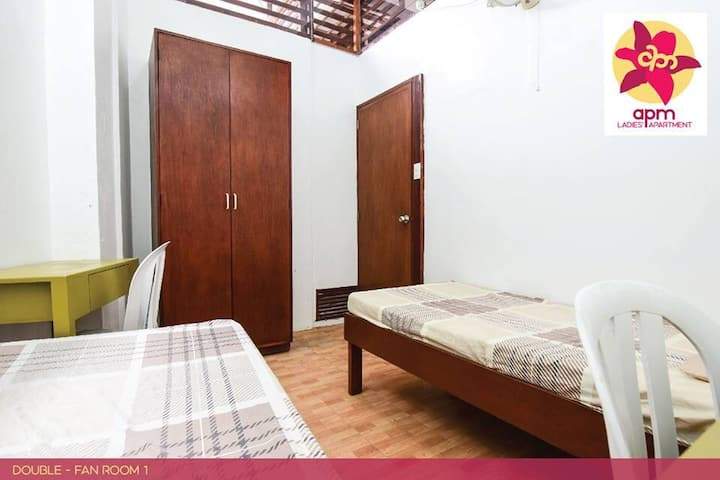 3-storey building in safe quiet place, ladies only