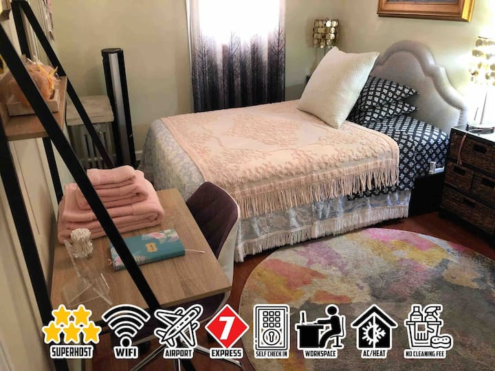 """Comfy Room """"1 Guest Only"""" Near LGA Airport"""