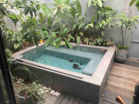 Agréable maison de ville avec petite piscine