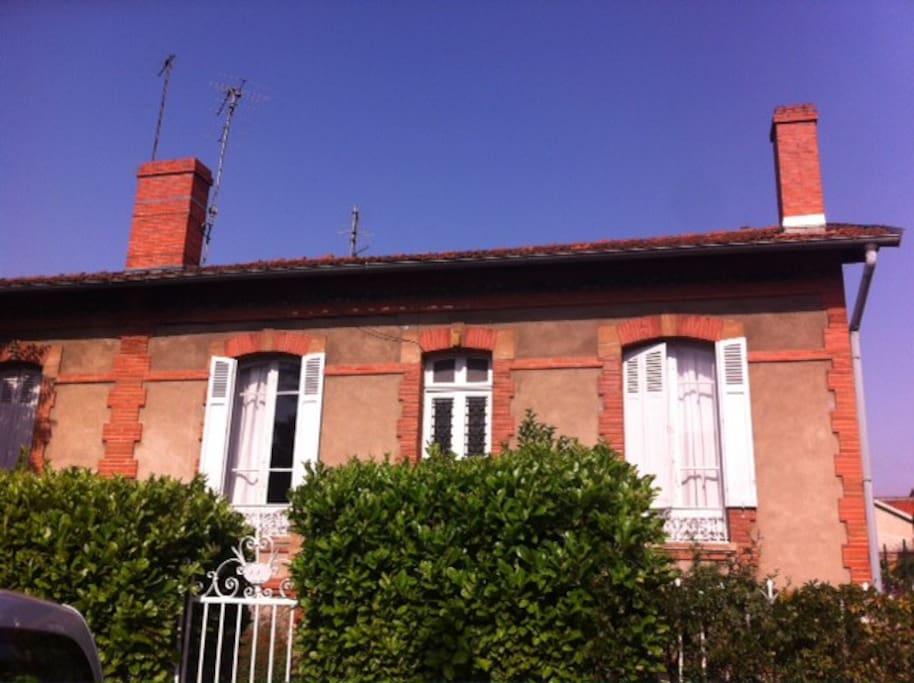 Maison de caract re jardin 5min du centre ville for Maison de ville toulouse