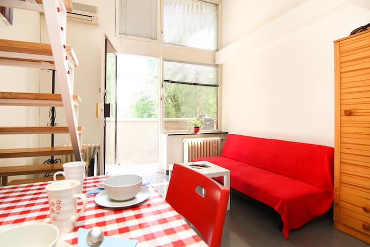 Studio for two near main bus station / airport bus