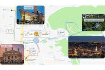 Directions to key landmarks in Lviv