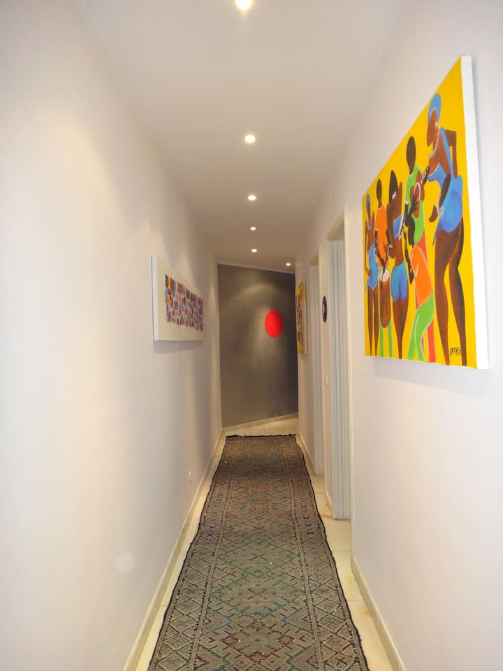 Corridor gives access to guest room