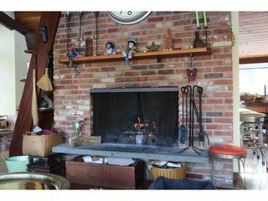 The fireplace is the draw of the house, and the center of attention in the winter.