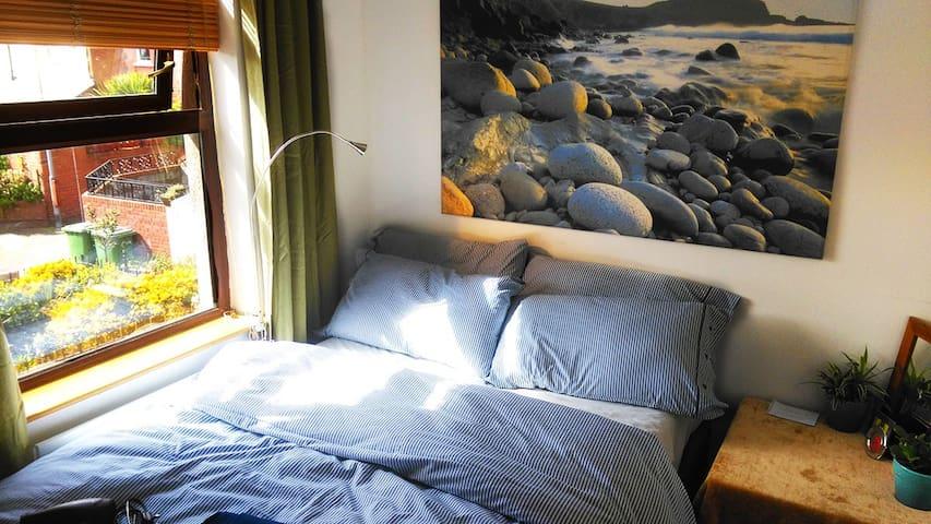 Bedroom: Double bed with memory foam mattress