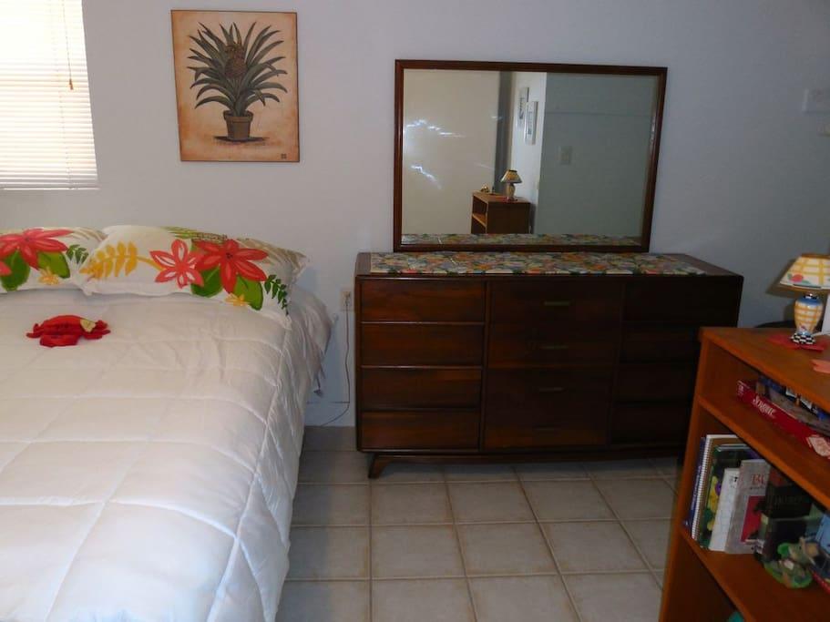 Bedroom, King-Sized Bed & Dresser