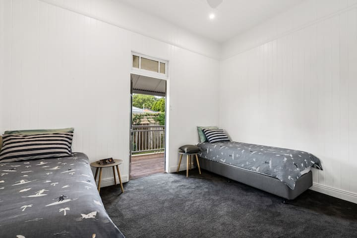 Bedroom 2, comprises of two long single beds which can easily be converted to one king size bed