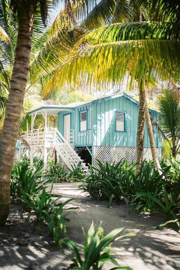 Play Castaway with an Island Cabana on Ranguana Caye!