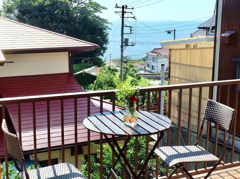 View from the balcony バルコニーからの眺め