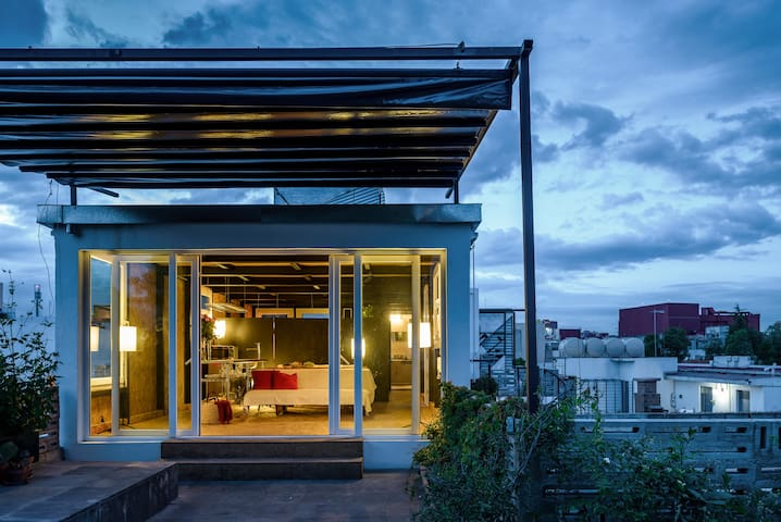 Functional loft with green terrace - Mexico City - Loteng