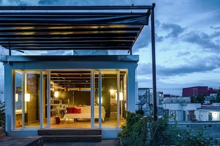 Functional loft with green terrace - Mexico City
