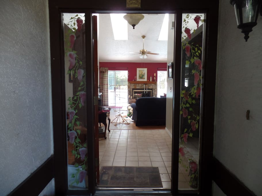 Front Door Entrance into Foyer