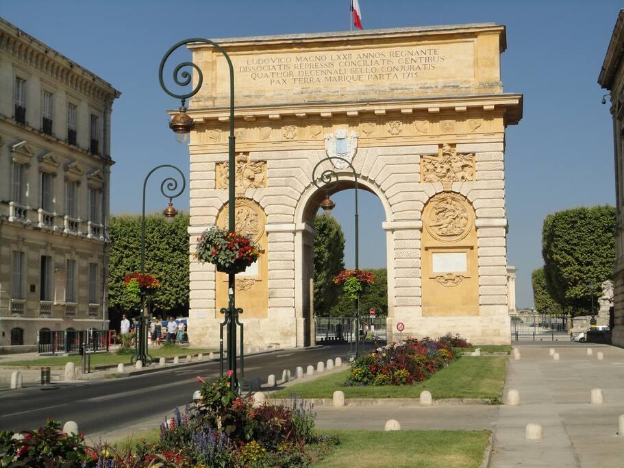 Montpellier Historique area