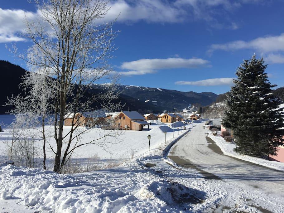 Winter park met op de achtergrond de Kreischberg
