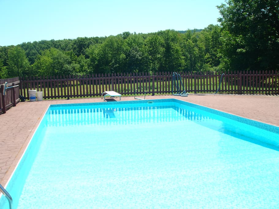 In-ground pool. Full sun all day.