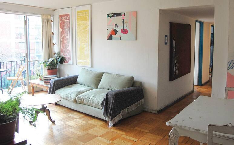 Art Gallery, living room.