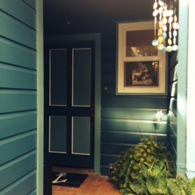 Front door with keyless entry