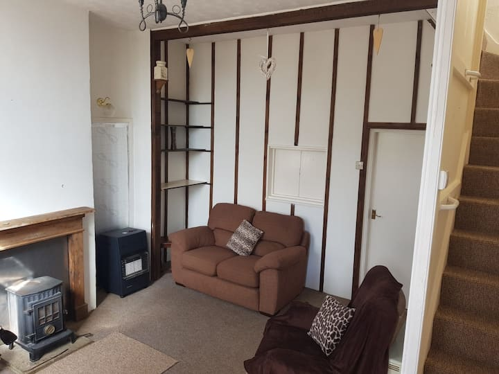 Secluded semi detached country cottage on farm.