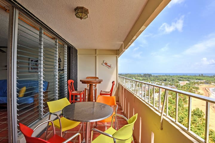 Dine on the balcony to enjoy ocean views with your meal!
