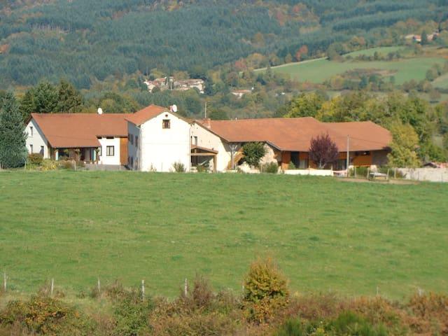 gite à la ferme avec piscine intérieure - Saint-Priest-la-Prugne