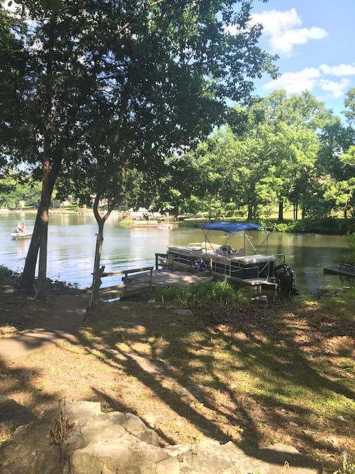 You can rent a boat or park your own boat right at our dock just feet from the house
