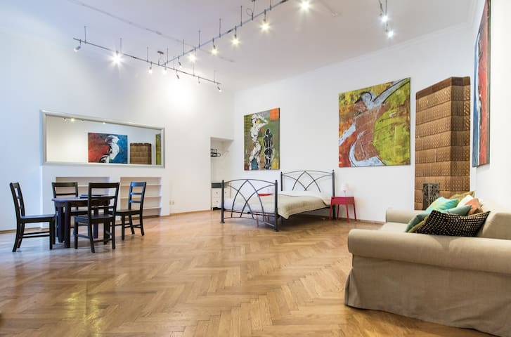 The Art Gallery Studio (free parking included) - Łódź - Appartement