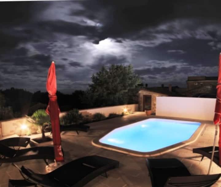 Krnica - House Sunshine mit Pool und Aussicht