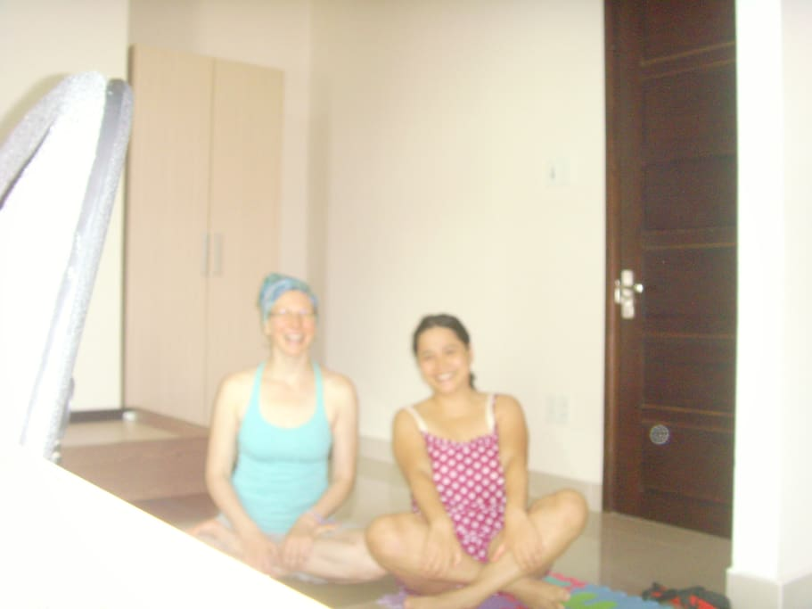 Initial Yoga's teacher from USA