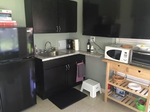 full fridge/kitchenette/sink