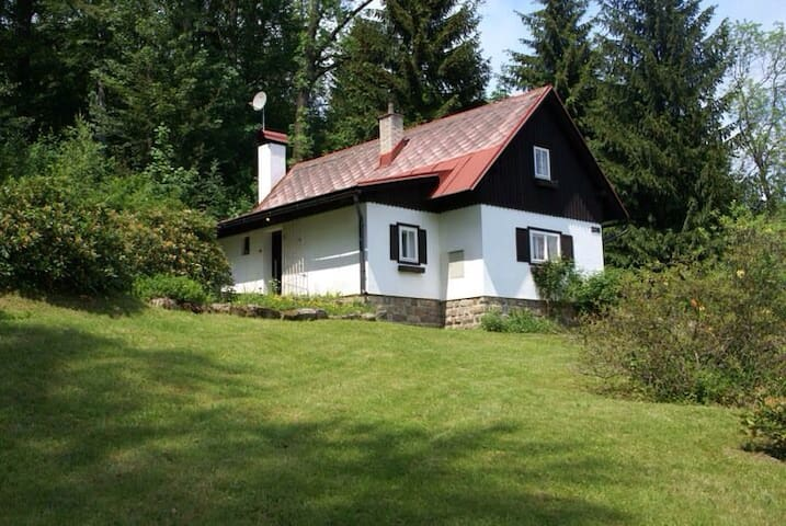 Beautiful cottage in mountain area - Velké Hamry - Cabin