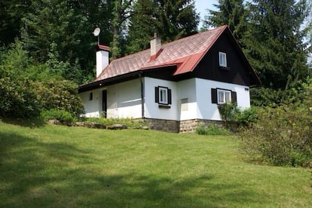 Beautiful cottage in mountain area - Velké Hamry - Blockhütte