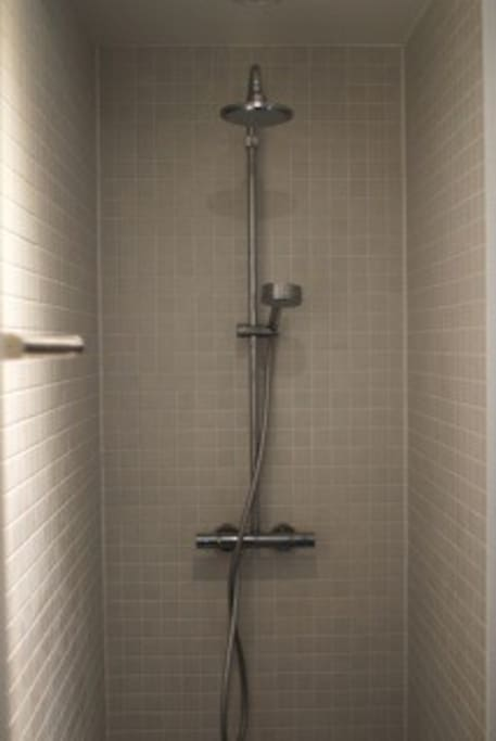 Comfortable shower.