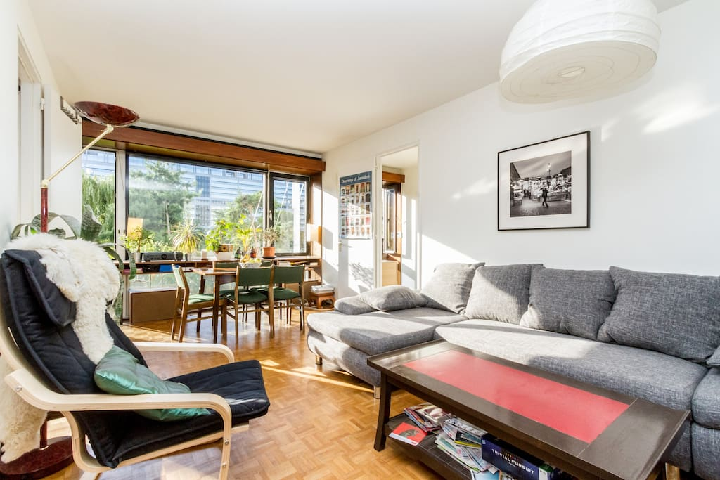 Appart 72m sur parc paris centre appartements louer for Location appart meuble paris