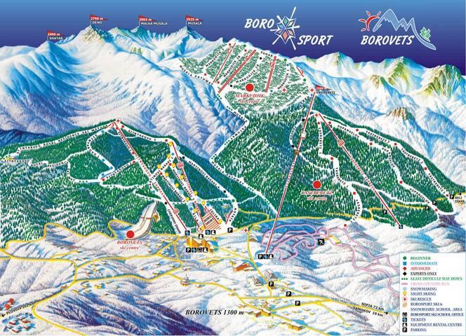 Ski in / ski out apartment in Borovets - Borovets - Apartment