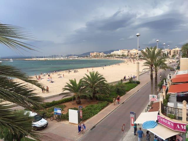 Apartamento en primera línea de playa - Can Pastilla - Apartemen