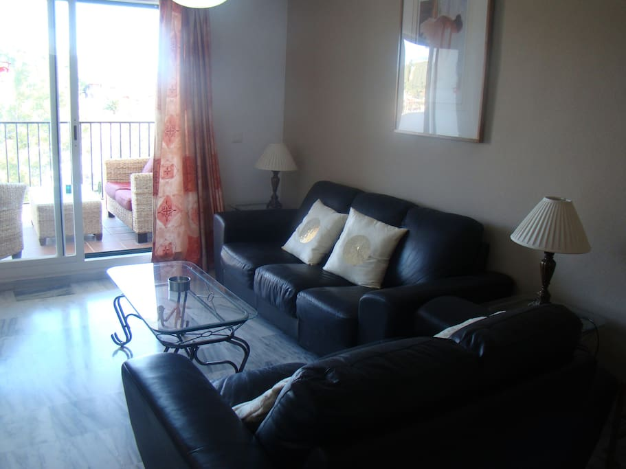 Living Room with 2 Sofas and Access to Terasse