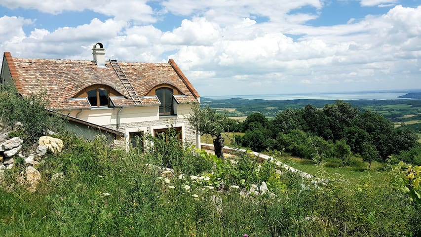Fairy-tale house on the top of the hill