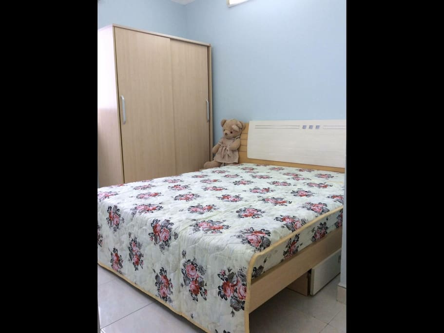 Master bedroom with bathroom inside