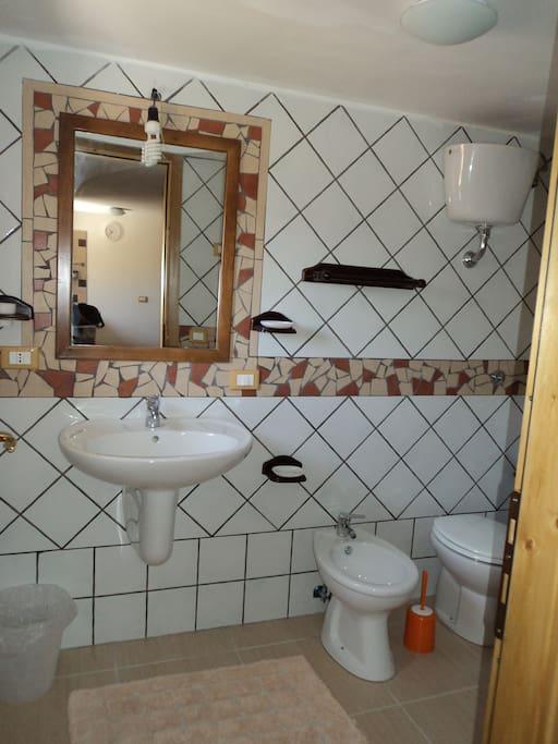 Il bagno è dotato di doccia.