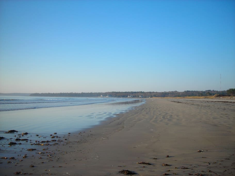 This beach is only one of several within a few minutes walk or drive from the Little House