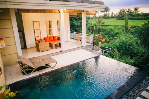 Ubud Peaceful Private Villa with Rice Field View