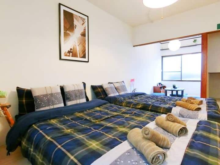 8 min from Kyobashi station/Direct KIX/cozy house!