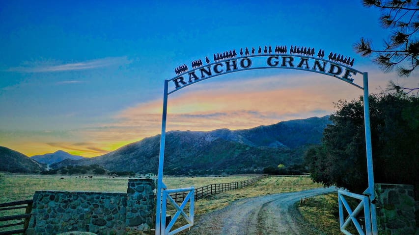 This is the entrance to the Ranch.